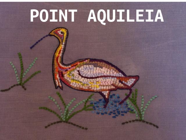 Art textile par Béatrice Rodaro-Vico: le point aquileia