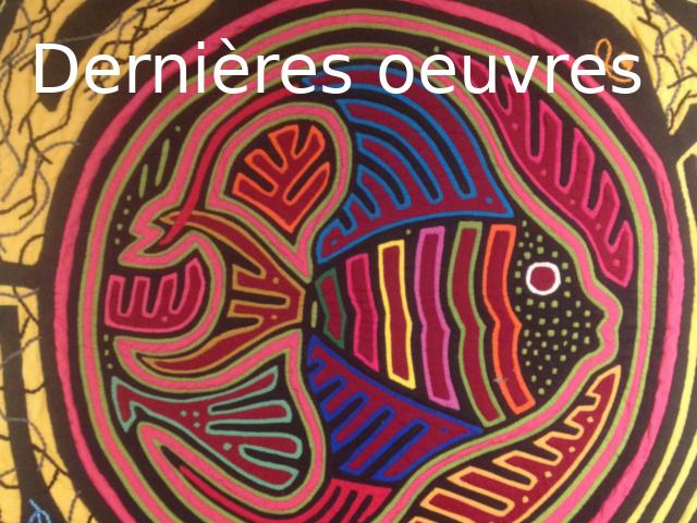 Dernières oeuvres d'art textile de Béatrice Rodaro-Vico